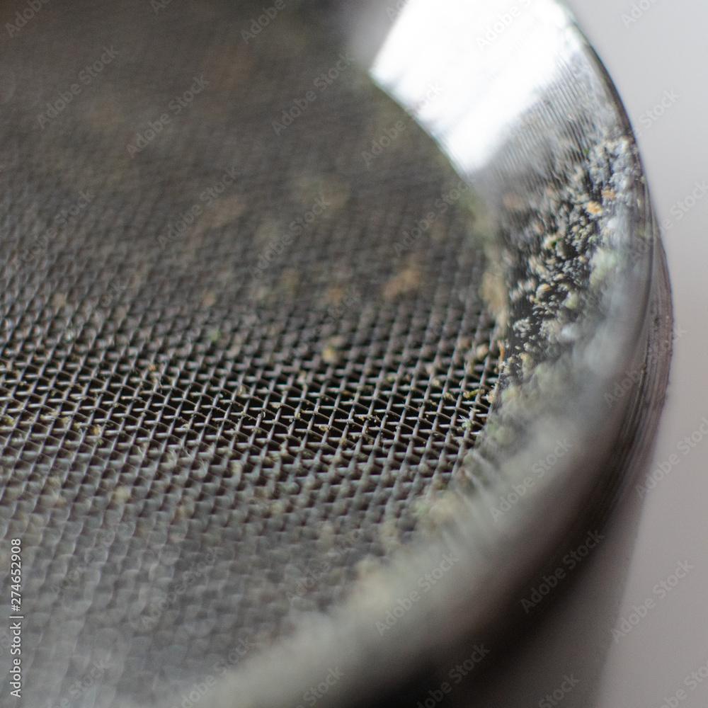 Fototapety, obrazy: .metal grinder for grinding marijuana before smoking in super macro. marijuana smoking culture our days