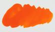 Leinwandbild Motiv Orange paint stain isolated