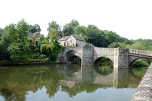 The Old Bridge On The River Teme In Ludlow, England