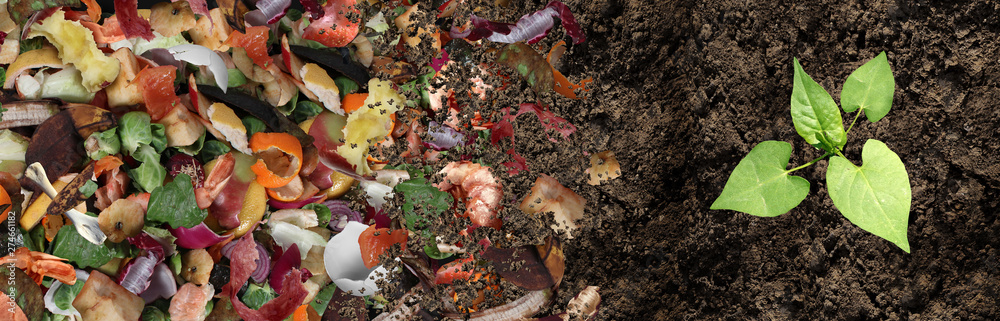 Fototapety, obrazy: Composted Soil Cycle