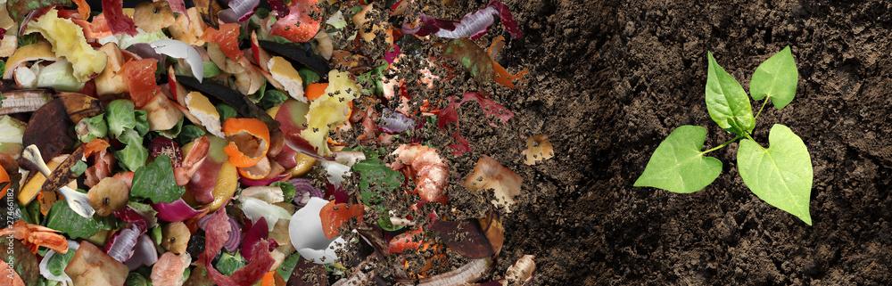 Fototapeta Composted Soil Cycle