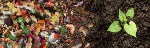 Composted Soil Cycle Fototapet