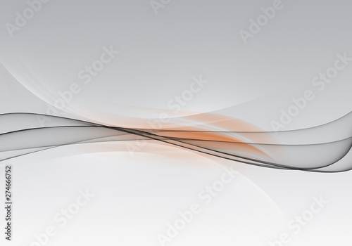 Abstract background waves. White, orange and grey abstract background for business card or wallpaper - 274666752