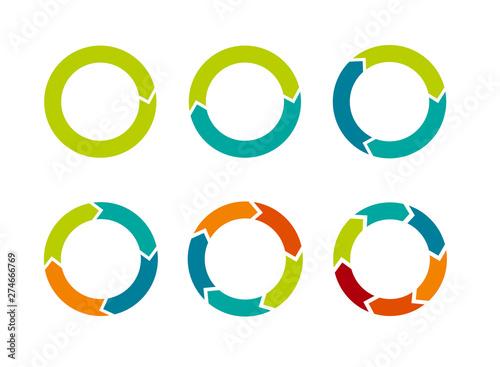 Fotografie, Obraz  Multicolored arrows in circular motion
