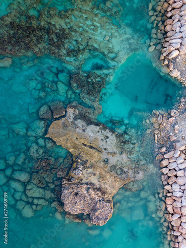 Canvas Prints Turquoise Underwater rocks in Ayia Napa- a textured wallpaper