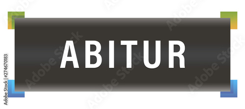 Abitur  web Sticker Button Canvas Print