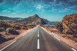 canvas print picture - road to madagh beach