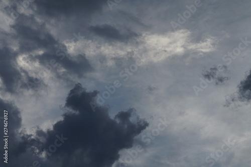Türaufkleber Darknightsky Clouds and sky scenic views