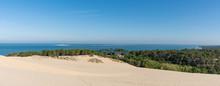 BASSIN D'ARCACHON (France), L'océan, La Presqu'île Du Cap Ferret Et Le Bassin Vus De La Dune Du Pilat