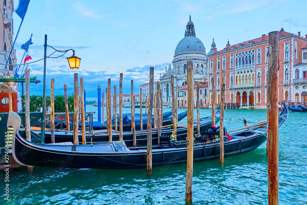Fototapety, obrazy: Gondolas on The Grand Canal in Venice
