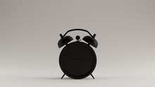 Black Retro Alarm Clock 3d Ill...