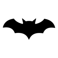 Bat Icon, Silhouette Vector Sy...