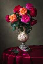 Floral Still Life With Luxurio...