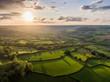 Dorset Countryside AONB sunset aerial
