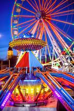 Amusement Park In The Night