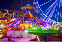 Amusement Park In The Night