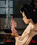 obraz olejny, portret, ręcznie robiony rysunek - 274697196