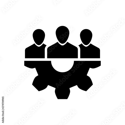 Fototapety, obrazy: Black Project team base icon isolated on white background. Business analysis and planning, consulting, team work, project management. Developers. Vector Illustration