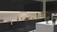Modern Kitchen Interior With L...