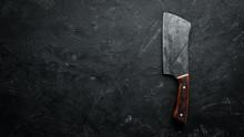 Kitchen Old Knife On A Black S...