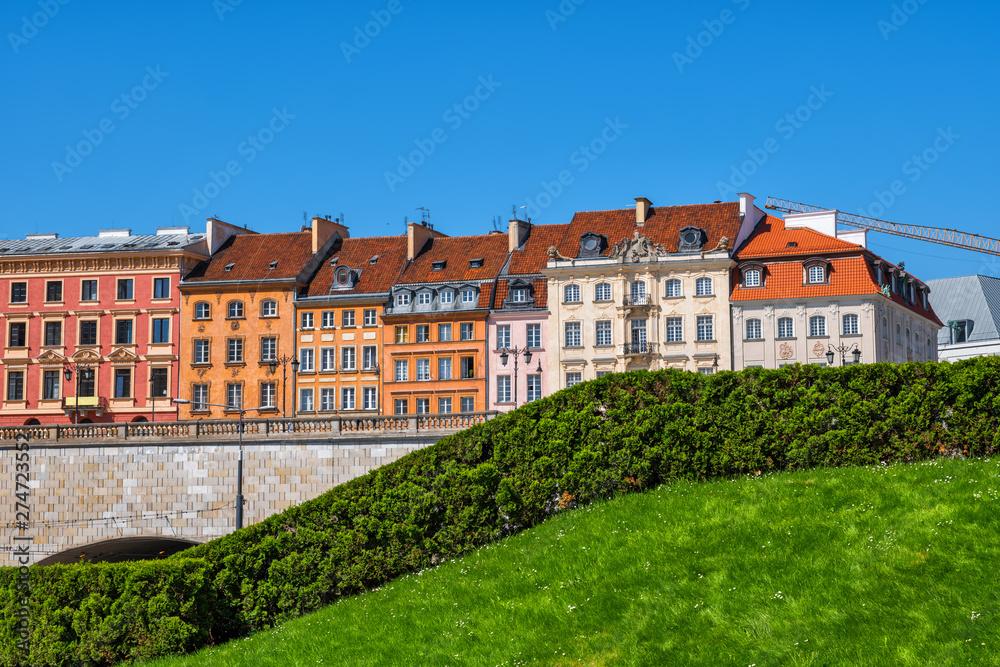 Fototapety, obrazy: Houses of Warsaw