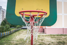 Basketball Hoop With Net On The Board, Children's Basketball .