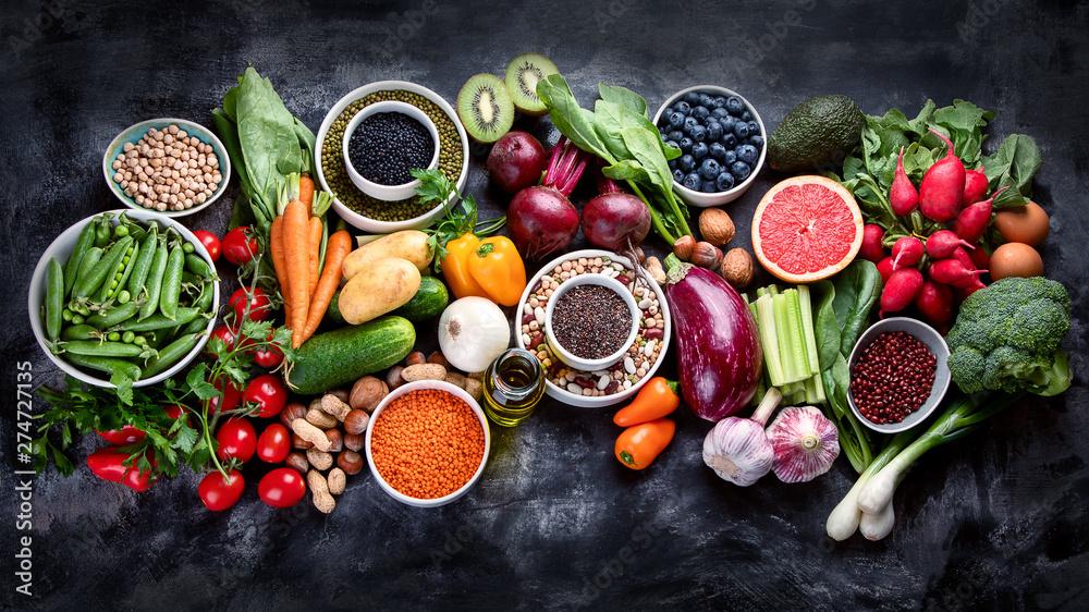 Fototapety, obrazy: Healthy eating ingredients