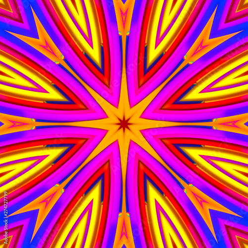 Photo Stands Psychedelic Abstract colorful background illustration design