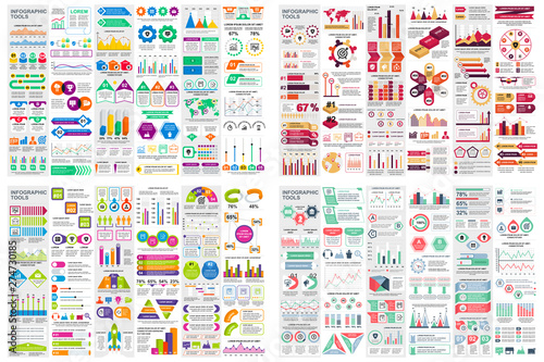 Αφίσα  Set of infographic elements data visualization vector design template