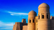 canvas print picture - Historic architecture of Khiva, Uzbekistan