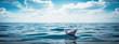Leinwandbild Motiv Reise & Papierschiff XXL Panorama