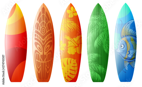 Designs For Surfboards Canvas-taulu