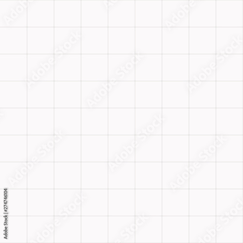 Vector simple graph paper seamless background. Abstract blueprint paper illustration Wall mural