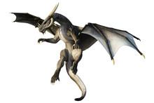 Brown Scale Dragon, 3D Illustr...