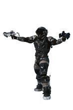 Scifi Soldier With Armor, 3D I...
