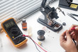 Repair of the radio board by soldering using a soldering station and other components