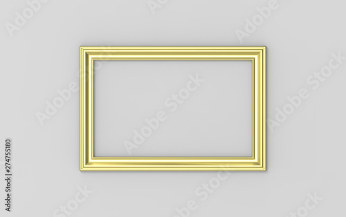 Fotografie, Obraz  golden frame on the wall