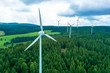 canvas print picture - Windpark im Schwarzwald