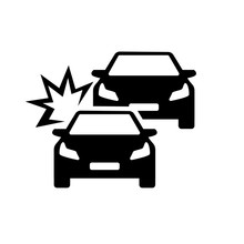 Car Crash Accident On The Road Vector
