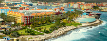 Aerial Panorama Of Willemstad On Curacao Island