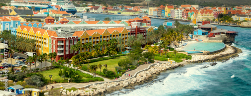 Aerial panorama of Willemstad on Curacao island - 274772310