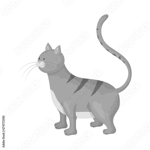 Aluminium Prints Cats Vector design of cat and kitten symbol. Collection of cat and animal stock symbol for web.