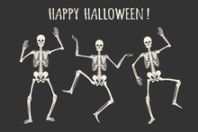 Dancing Human Skeletons. Happy...