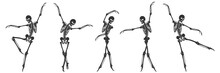 Ballet. Five Dancing Black Sil...