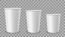 White Paper Cups. Cup For Drin...