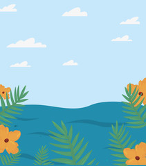 Fototapeta na wymiar summer time holiday icon vector ilustration