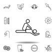 massage and spa outline icon. Detailed set of spa and relax illustrations icon. Can be used for web, logo, mobile app, UI, UX