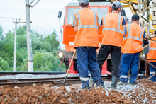 Workers Ready To Work On Rail ...