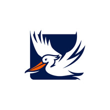 Pelican Bird Logo Abstract Des...