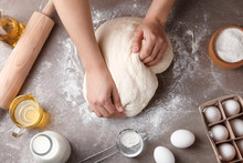 Female Baker Preparing Bread D...